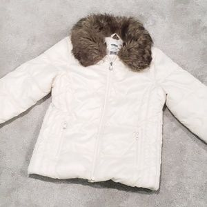 Girls Winter Coat w/ Faux Fur Collar